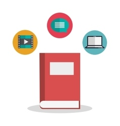 Book of office and work design vector