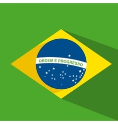 brazil flag design vector image