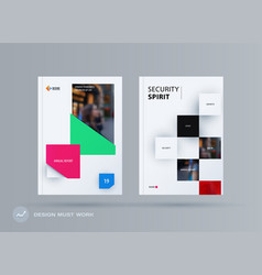 Brochure design rectangular template colourful vector