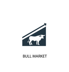 bull market icon simple element vector image