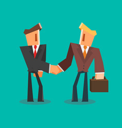 businessmen shaking hands successful deal concept vector image