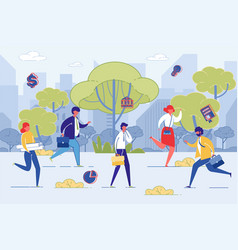 businesspeople life time management outdoor vector image