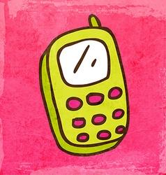 Cellphone Cartoon vector image