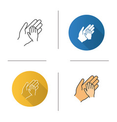 Charity for children icon vector