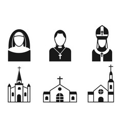 Christianity religion flat icons vector