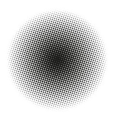 circle gradient halftone dots background template vector image