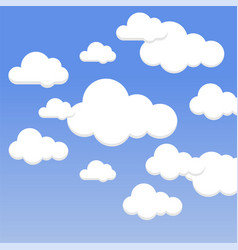 cloud set background vector image