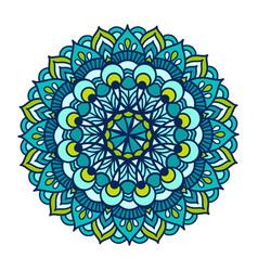 color floral mandala vintage vector image