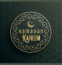 creative ramadan kareem greeting card design vector image