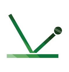 cricket ball trajectory icon vector image