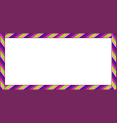 cute christmas or new year rectangle banner frame vector image