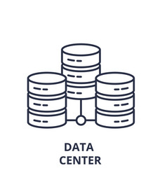 data center line icon concept data center vector image