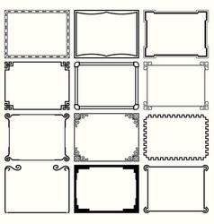 decorative simple frames set 10 vector image