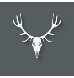 deer skull silhouette vector image