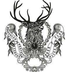 elks crest vector image