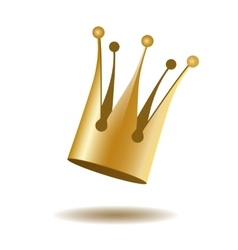 Falling gold crown vector