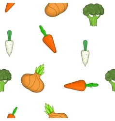 Farm vegetables pattern cartoon style vector