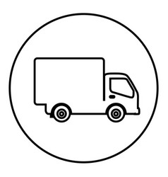 Figure symbol delivery car icon vector