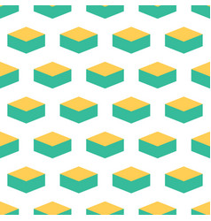 Geometry box seamless pattern vector