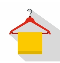 Hanger with cloth icon flat style vector image