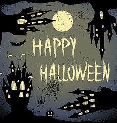 Happy halloween card Halloween template with four vector image