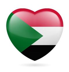 Heart icon of Sudan vector image