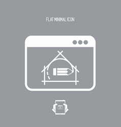House design project - flat icon vector