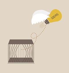 Idea escape form the cage vector image