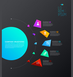 infographic template with five colorful shapes vector image