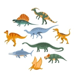 Jurassic Period Dinosaurs Set vector image