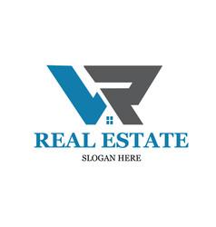 L r real estate logo designs modern simple vector