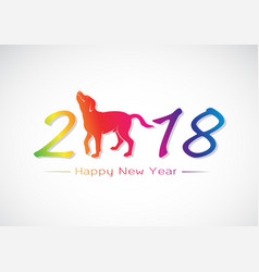 labrador dog 2018 new year card vector image
