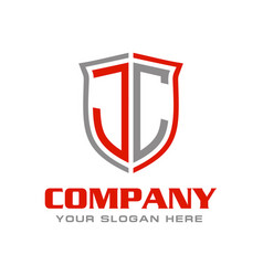 Letter jc initial logo design vector
