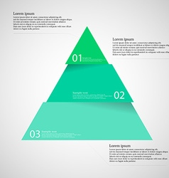 Light inforgraphic with triangle divided to three vector