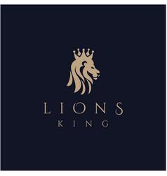 lion head logo elegant lion logo design lion vector image