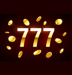 Lucky sevens jackpot three lucky sevens with vector
