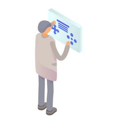 man futuristic screen icon isometric style vector image