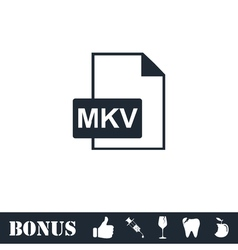 MKV icon flat vector image