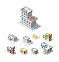 modern city architecture isometric 3d vector image