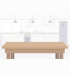 Modern new light interior of kitchen with white vector