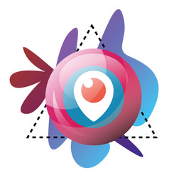 multicolor graphics and periscope symbol bubble vector image