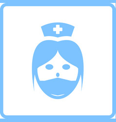 Nurse head icon vector