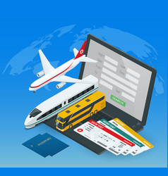 Online purchase or booking of tickets vector