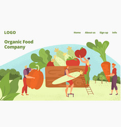 Organic farm healthy food delivery vegans and vector