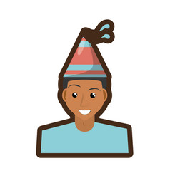 Person with hat party icon vector