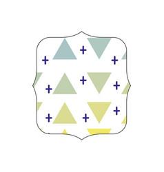 Quadrate with memphis style geometric design vector
