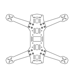 Race Quad Frame Symbol Icon vector