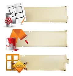 repair paper banners vector image