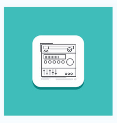 round button for rack component module sound vector image