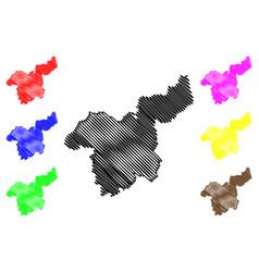 Saraburi province map vector